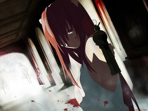 Elfen Lied Wallpaper. Genres: drama, horror