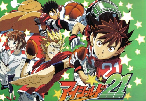 eyeshield 21 hiruma mamori. hair eyeshield 21 hiruma and