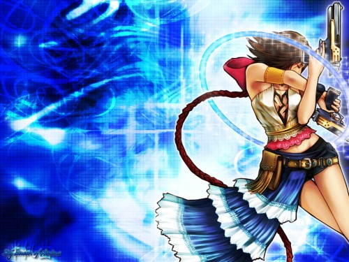 Wallpaper made August 27, 2006. Features Yuna from Final Fantasy X-2.