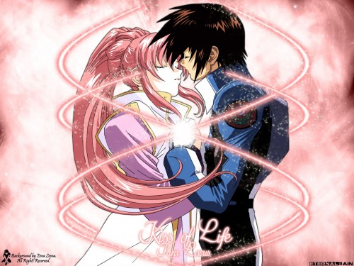 Mobile Suit Gundam SEED Wallpaper: Kiss of Life : Kira & Lacus